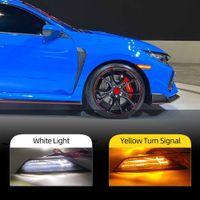2PCS LED Side Marker Turn Signal Indicator Lights For Honda Civic 2016 2017 2018 2019 2020 DRL Daytime Running light