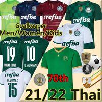 2021 2022 Palmeiras Soccer Jerseys 70th Anniversary Dudo G.Jesus Jean Alcsandro Football Jersey Allione Cleiton Xavier 70 عاما Palmeiras Men Women Kids Kits