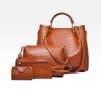 Pink Sugao With Purse 4pcs set Bag Pu Leather Handbags Tote Wallet Set Shoulder Designer High Quality Women Bags Crossbody Wom Vlqix