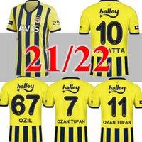 20 21 Fenerbahce Soccer Jerseys 2020 2021camisetas de Fútbol Home Third Mesut Özil Ozan Tufan Perotti Samatta Shirts كرة القدم الأصفر