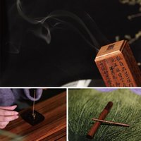 Fragrance Lamps Solid Wood Incense Aroma Burner Chinese Calligraphy Book The Heart Channel Of Hand-Shaoyin Lignaloo Stick Holder Table Decor