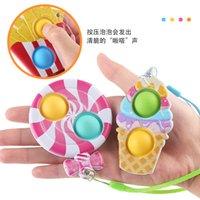2021 Gourmet Finger Bubble Pendant Children's stress relief Toy Lollipop