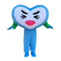 Performance Love Heart Blue Mascot Costume Halloween Natale Fancy Party Dress Waterdrop Cartoon personaggio dei cartoni animati Carnevale Unisex Adulto