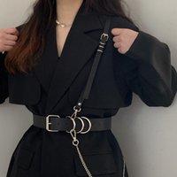 Belts 2021 Leather Body Harness Chain For Women Erotic Sexy Bondage Female Gothic Harajuku Waist Belt Chest Cage