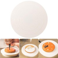 Baking & Pastry Tools SHZQ DIY Cake Rotary Table Mini Plastic Fondant Turntable Revolving Platform Round Cookie Stand Rotating Home Kitchen
