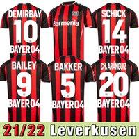 2021 2022 Leverkusen Fútbol Jersey Men Kit Bayer 04 Leverkusen Palacios Bailey Football Jersey Demirbay Volland Tah Camisetas de fútbol 22 22