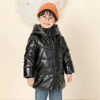 Down Coat Winter Children's Jacket Fashion Printing Boys And Girls Thick Warm Cotton Korean Hooded Clothing Toddler Boy