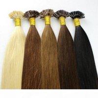 Elbess Cheveux - Virgin Brésilien Virgin Remy u Astuce Extensions de cheveux humains 0.8g Strand 200 brins lot # 1 # 2 # 4 # 6 # 60 # 613 couleurs disponibles