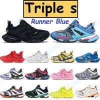 Triple S 3.0 Erkek Rahat Ayakkabılar Platformu Sneakers Runner Mavi Gri Beyaz Donanma Siyah Sarı Pembe Eğitmen Kireç Erkek Kadın Spor Chaussures