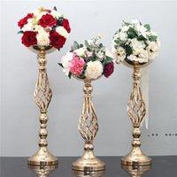 Düğün Mumluklar Demir Vazo Mum Çiçek Raf Yol Kurşun Düğün Centerpiece Şamdan Düğün Prop Dekorasyon FWB10591