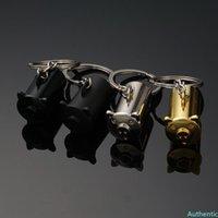 Creative Metal Pig Keyring Car Styling Keychain for Honda Nissan Toyota Chevrolet Subaru Mazda Hyundai Key Ring Holder