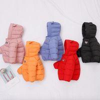 Down Coat Autumn Winter Girls Boy Padded Jacket Boys Hooded Clothes Cartoon Children Baby