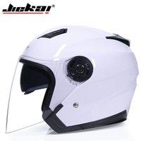 Caschi moto Genuine Jiekai Casco Casco Moto Dual Lens Estate Inverno Open Face Casco Moto Capacete Para Motocicleta