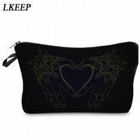2019 Love Heart Pattern Women Clutch Cosmetic Bag Make Up Organizer Fashion Women Printing Multifunction Portable Makeup Bags d4Cy#