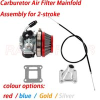 Motorcycle Fuel System 49cc Performance 19mm Carb Carburetor Air Filter Mainfold Assembly For 2-stroke 47cc 49 Cc Mini Pocket Bike