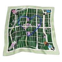 Scarves Love Printing Fashion Women's Scarf Silk Decoration 70 * 70cm