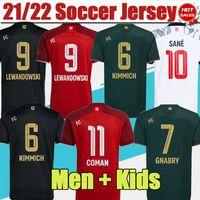 옥토버 페스트 네 번째 셔츠 축구 유니폼 # 9 Lewandowski Muller 홈 레드 축구 유니폼 2021 2022 Coman Kimmich 멀리 블랙 축구 셔츠 Sane Gnabry 3RD 유니폼