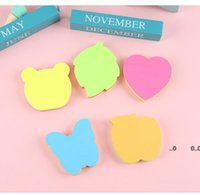100-Page Fluorescent Multi-Color Sticky Notes Index Special-Shaped N-Times Note Pads Stationery 5 Designs Optional Customize RRE10561