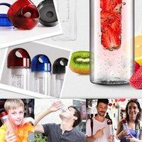 Tritan plastik meyve suyu infüzer şişesi açık spor infüzyon su şişeleri 700 ml limon fincan BPA ücretsiz çevre dostu drinkware DHD7057