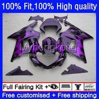 Motorcycle Body For SUZUKI GSXR 1000CC 1000 CC Injection Mold Bodywork 24No.160 GSXR-1000 00-02 GSXR1000 K2 00 01 02 GSX-R1000 2000 2001 2002 OEM Purple flames Fairing