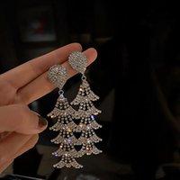 Luxus Geometrische Wassertropfen Kristall Ohrringe Für Frauen Lange Quaste Glänzender Strass Baumeln Baumality Partei Schmuck Kronleuchter