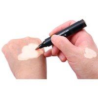 Vitiligo Kapatıcı Kapsayan Sıvı Kalem Su Geçirmez Vitiligo Beyaz Noktalar Uzun Ömürlü Lökoderma Cilt Renk Renksiz 2 adet / grup için Anında Makyaj