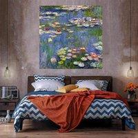 Su Lilyum Tuval Üzerine Büyük Yağlıboya Ev Dekor El Sanatları / HD Baskı Duvar Sanatı Resimleri Özelleştirme Kabul Edilebilir 21051211