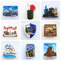 Fridge Magnets Souvenirs Malaysia Portugal Germany San Marino UK Qatar Greece Paris Italy Refrigerators Stickers Home Decor