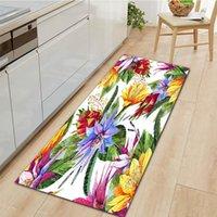 Carpets Home Kitchen Carpet Anti-Slip Entrance Doormat Bedroom Living Room Hallway Floor Rug Flowers Pattern Decorations Bedside Mat