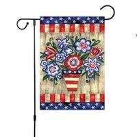 Decorazioni Bandiera del giardino patriottico Bandiera a doppia lati Biglietti Biglietti Bandiere Banner per Memorial Day America Rustico OWB8558