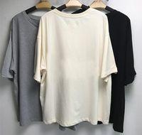 2021 mens camiseta meia manga algodão de volta letras de tamanho grande t-shirt estilo de verão homens camiseta T-shirt T-shirt