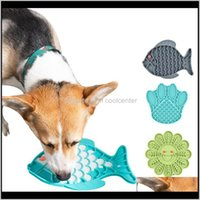 Bowls Feeders Supplies Home & Garden Drop Delivery 2021 Sile Pet Lick Dog Feeding Bowl For Distraction Slow Feeder Treat Dispensing Mat Aesso