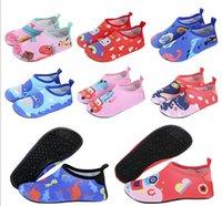 2021 niños agua calcetines rosa calcetines Aqua playa zapatos secos bota de bota zapatos de buceo calcetín de agua deportes de agua surfing zapatillas zapatillas para niño y niña