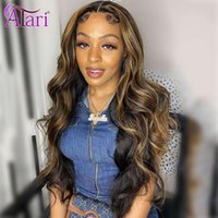 Lace Wigs Atari Highlights Brown 13x4 Frontal Wig Transparent Body Wave Front Human Hair For Women Brazilian Closure