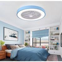 Mordern Sypialnia LED Wentylator Sufitowy Światła z pilotem Macaron Ultra-cienki Lampa Nordic Salon Room Nowoczesne Lampy Kreatywne Oświetlenie Oświetlenie