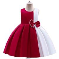 Vestidos de niñas Ropa para niños Niños Sin mangas Princesa Bowknot Party Formal Pago Vestido Cumpleaños Ropa infantil B7233