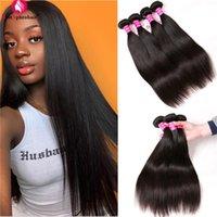 Human Hair Bulks Straight Bundles Brazilian Weave 8-24 Inch 4 Deal Non-Remy APHROHAIR