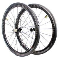 Bike Räder 700c Carbon Road Rad 50mm breitere Aero Felge Tubeless READY Powerway R51 Gerade Zug Hub Super Light Bicycle Radset