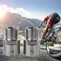 Pedais de bicicleta 1 par de aço titânio pedal extensores espaçadores para MTB Mountain Road Acessórios de bicicleta Peças de substituição