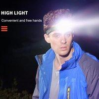 Inteligente Infravermelho Sensor Farol Recarregável Super Brilhante LED Lâmpada À Prova D 'Água Usb Headlamp Ao Ar Livre Caminhada Pesca Flashlig Farolig