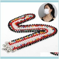 Favor Event Festive Party Supplies Home & Garden70Cm Anti-Loss Bead Face Mask Lanyard Chain Eyewear Retainer Eyeglass Holder Anti-Lost Rope