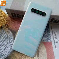 Top Quality 30pcs Back Glass for Samsung Galaxy S10 S10E S10 Plus Back Battery Cover Door Rear Glass Housing Case + adhesive Replacement 100Pcs DHL UPS FEDEX