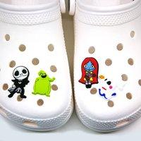 Хэллоуин Croc Cronms Soft Cute Make Jack PVC Очаровательные аксессуары Очаровательные аксессуары Пользовательские Джибз для засовачных Обувь Детский подарок