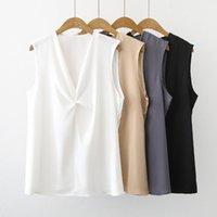 Women's Blouses & Shirts Fashion Ladies Vest Chiffon Spring Summer Sleeveless Tops Blusas Mujer