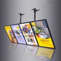 متجر الوجبات السريعة شنق لوحة الإعلانات عرض لافتات الصورة مع 4 قطع صناديق الخفيفة وحدات حالة خشبية التعبئة (60x160cm)