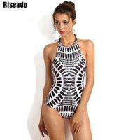 Riseado 2020 الرقبة عالية الرقبة مثير ملابس النساء قطعة واحدة المايوه عرض الرسن الدانتيل متابعة ملابس السباحة الاستحمام الدعاوى ارتداءها