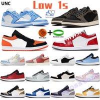 낮은 점프 만 1 농구 신발 1S 남성 스포츠 운동화 그림자 회색 블랙 돛 하이퍼 로얄 블랙 발가락 Top3 UNC 시카고 트레이너