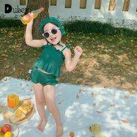 Girls Swimwear Baby Girl 3 Piece Suspender Swim Swimsuit Set Bathing Suit Summer Beach Swimming Wear One-Pieces