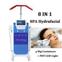 스파 사용 Hydra Microdermabrasion 기계 다이아몬드 Dermabrasion 피부 껍질 Hydrafacial 장비 8 LED 빛으로 Hydrofacial Careles