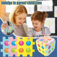 Kids Adults Fidget Toy Pop Form Squares Antistress It Silicone Toy Cube Blocks Push Bubble Colorful Toy Empurre A Bolha